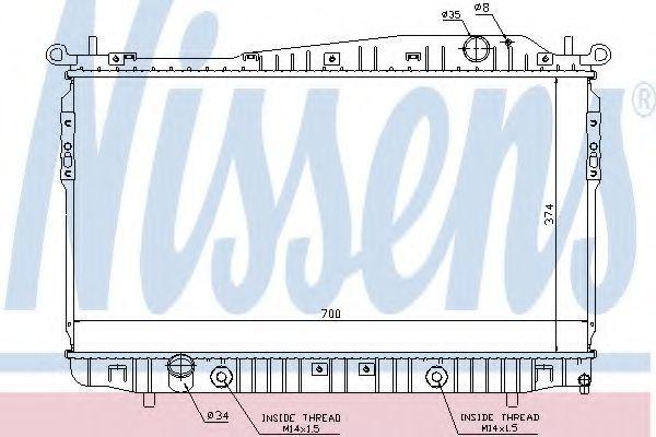 Радиатор охлаждения двигателя NISSENS 61629