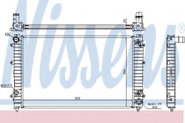Радиатор охлаждения NISSENS 60493A