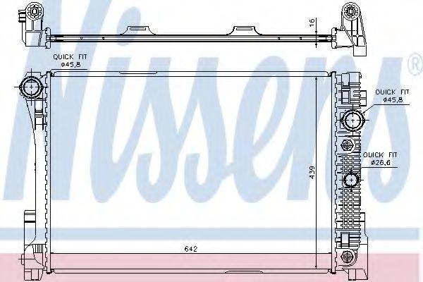 Радиатор охлаждения двигателя NISSENS 67161