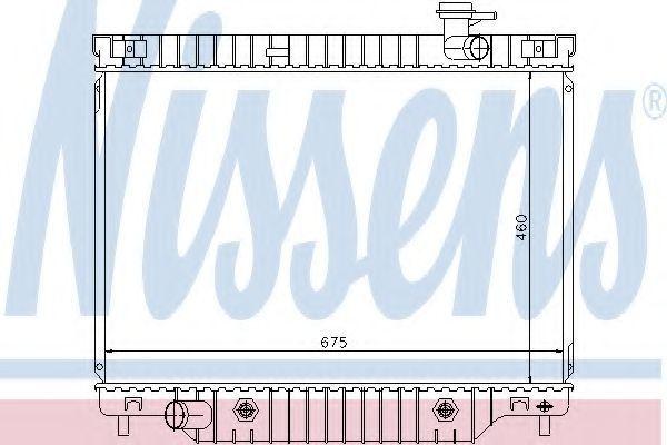 Радиатор, охлаждение двигателя NISSENS 69211