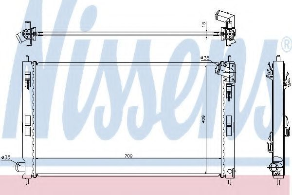 Радиатор охлаждения двигателя NISSENS 628952