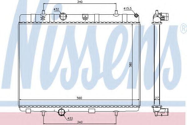 Радиатор охлаждения NISSENS 636007