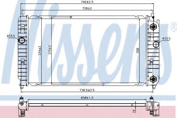 Радиатор охлаждения NISSENS 69458