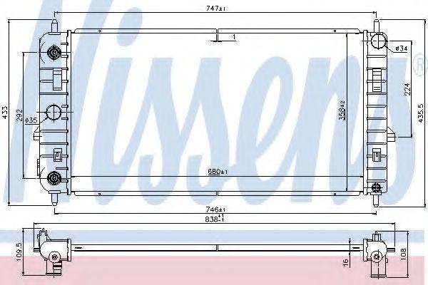Радиатор, охлаждение двигателя NISSENS 69461
