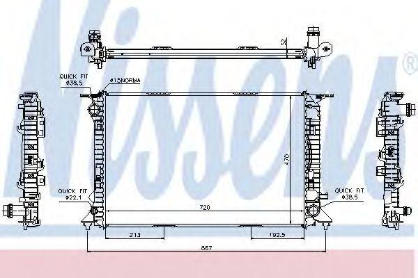 Радиатор охлаждения двигателя NISSENS 60317