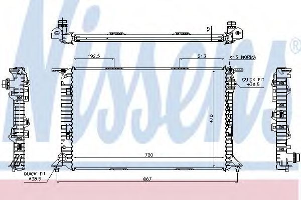 Радиатор охлаждения NISSENS 60319