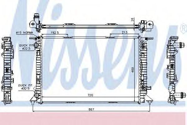 Радиатор охлаждения двигателя NISSENS 60321