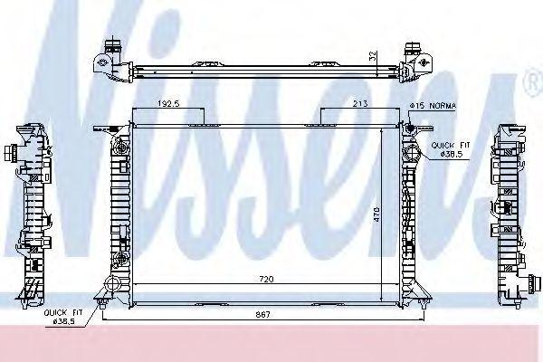 Радиатор охлаждения NISSENS 60322