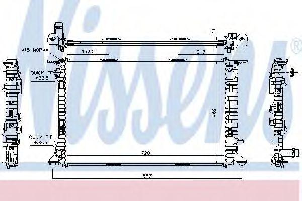 Радиатор охлаждения двигателя NISSENS 60323