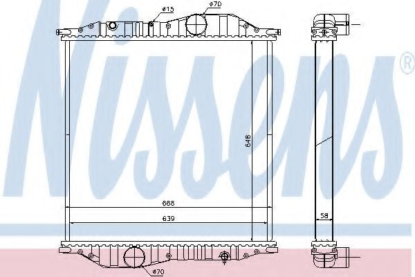 Радиатор, охлаждение двигателя NISSENS 625502