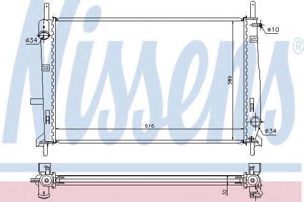 Радиатор охлаждения NISSENS 69251