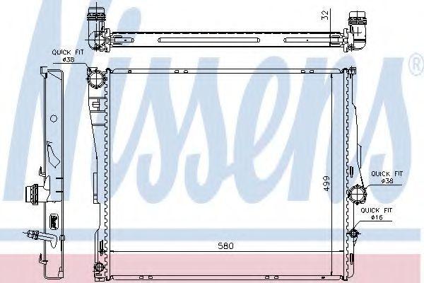 Радиатор охлаждения NISSENS 60807