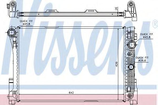 Радиатор охлаждения двигателя NISSENS 67168