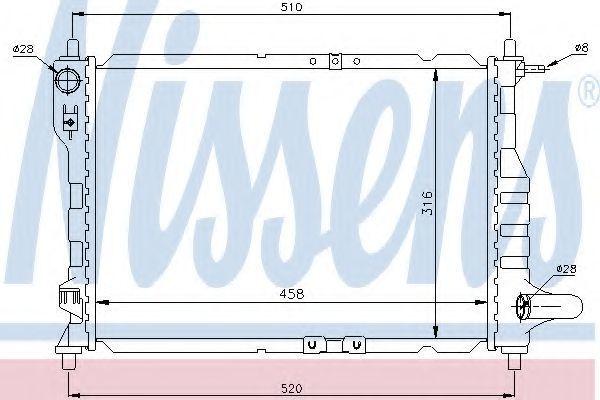 Радиатор охлаждения NISSENS 61630