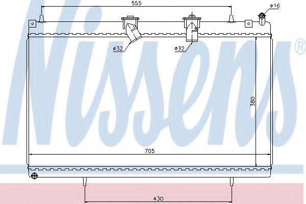 Радиатор охлаждения NISSENS 636003