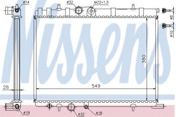 Радиатор охлаждения NISSENS 63502