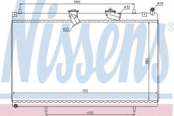 Радиатор охлаждения NISSENS 63619