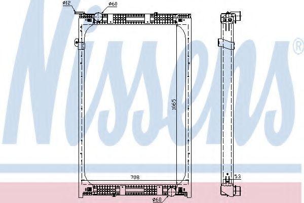 Радиатор, охлаждение двигателя NISSENS 67171