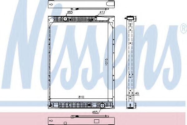 Радиатор охлаждения NISSENS 67169