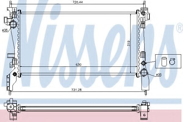 Радиатор охлаждения NISSENS 636004