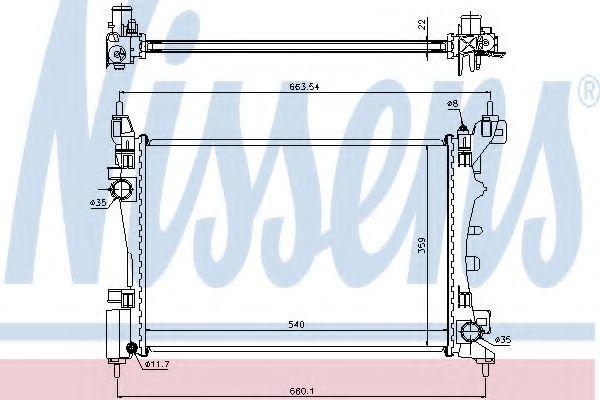 Радиатор охлаждения NISSENS 636005