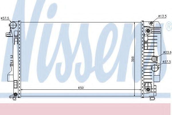 Радиатор охлаждения NISSENS 67174
