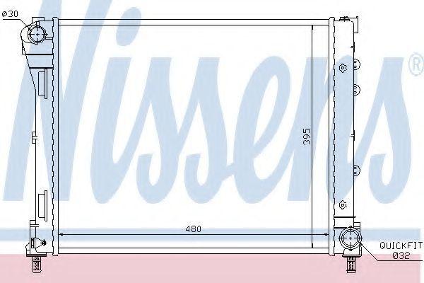 Радиатор охлаждения NISSENS 61935