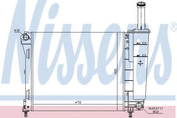 Радиатор охлаждения NISSENS 61936
