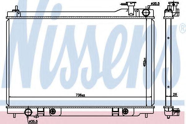 Радиатор охлаждения NISSENS 68119