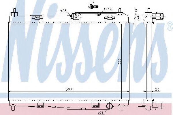 Радиатор охлаждения NISSENS 69235