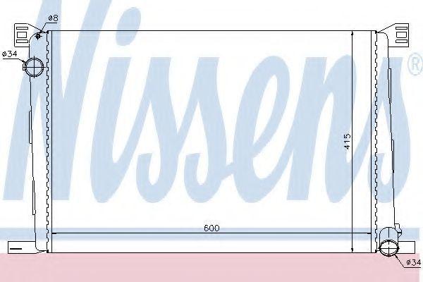 Радиатор охлаждения NISSENS 69706