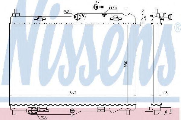 Радиатор охлаждения NISSENS 69233
