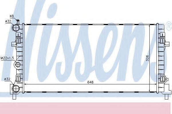 Радиатор охлаждения NISSENS 640012