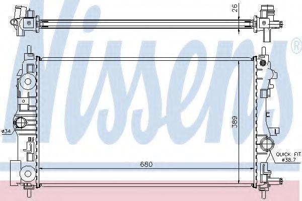 Радиатор охлаждения NISSENS 630722
