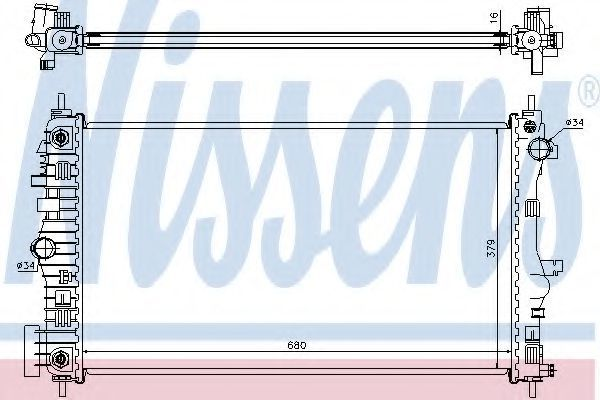 Радиатор охлаждения NISSENS 630713