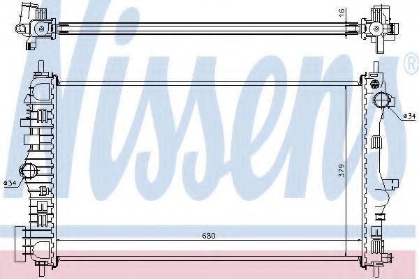 Радиатор охлаждения NISSENS 630712