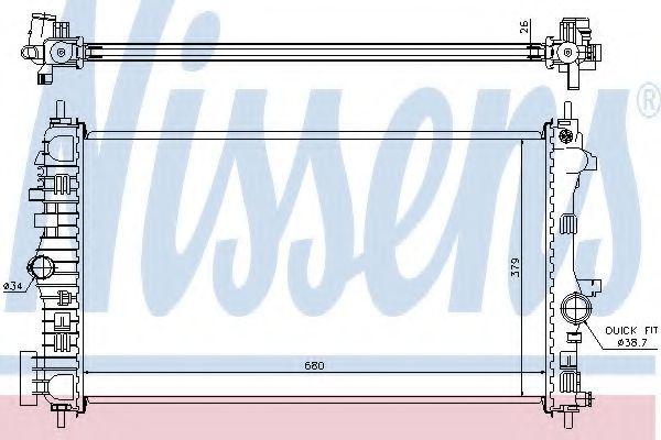 Радиатор охлаждения NISSENS 630716