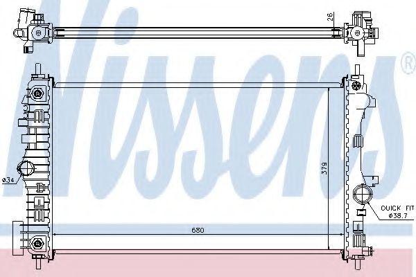 Радиатор охлаждения NISSENS 630717