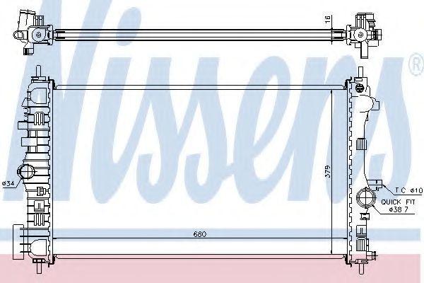 Радиатор охлаждения NISSENS 630718