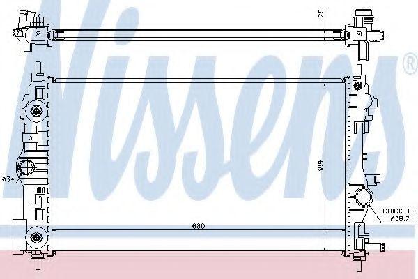 Радиатор охлаждения NISSENS 630723