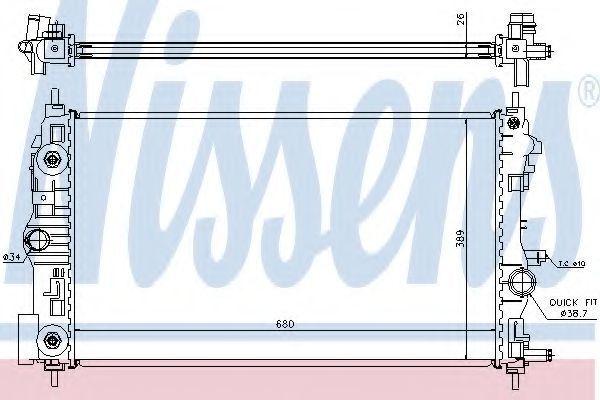Радиатор охлаждения NISSENS 630724