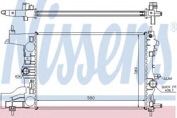 Радиатор охлаждения NISSENS 630725