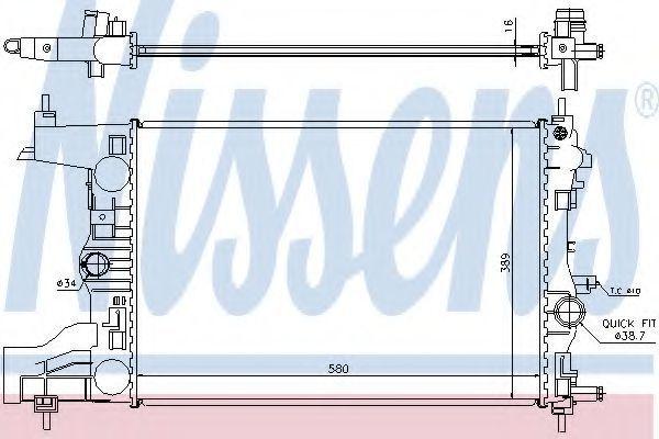 Радиатор охлаждения NISSENS 630727