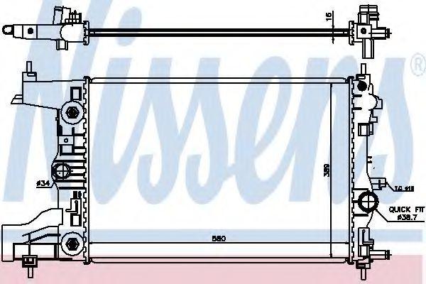 Радиатор охлаждения NISSENS 630729