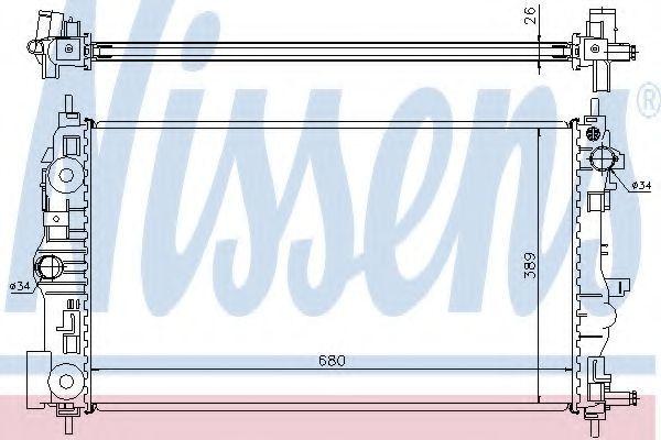 Радиатор охлаждения NISSENS 61676