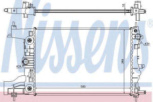Радиатор охлаждения NISSENS 61677