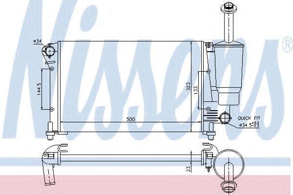 Радиатор охлаждения NISSENS 617853