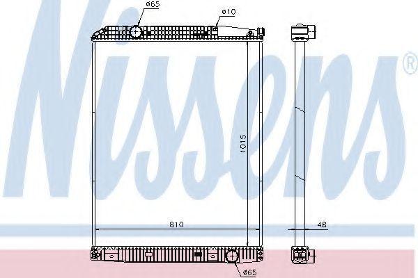 Радиатор, охлаждение двигателя NISSENS 671650
