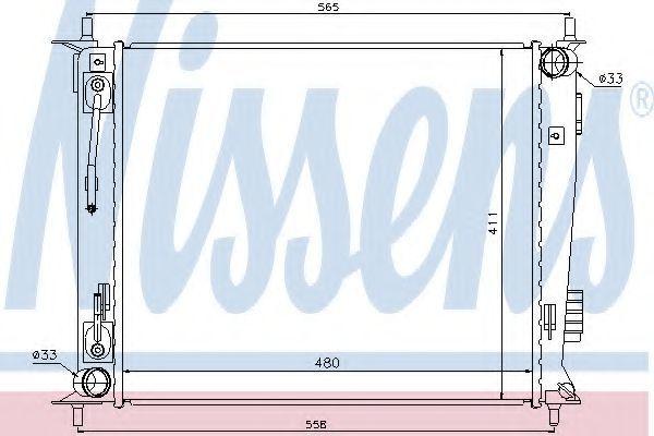 Радиатор охлаждения NISSENS 66730