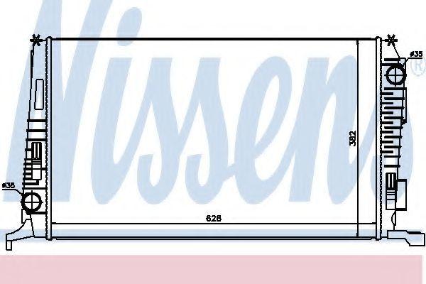 Радиатор охлаждения NISSENS 637614